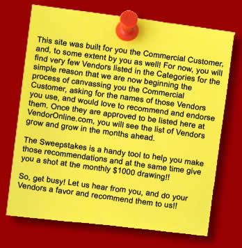 Commercial Vendors